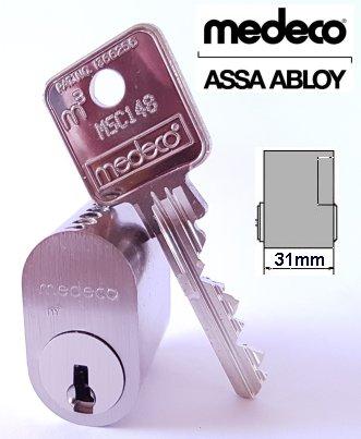 Medeco Assa 601 Scandinavian Single Cylinder Lock External