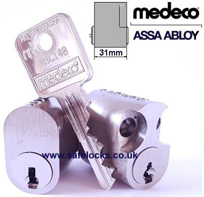 Medeco Assa 602 Scandinavian Single Cylinder lock Internal External