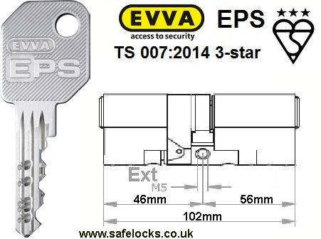 Evva eps dz46 56 bs en1303 ts 007 2014 3 star euro for 007 door locks