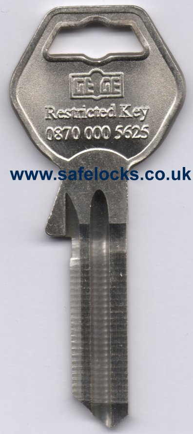 Gege Restricted 5 Pin Key Cutting To Code On Genuine