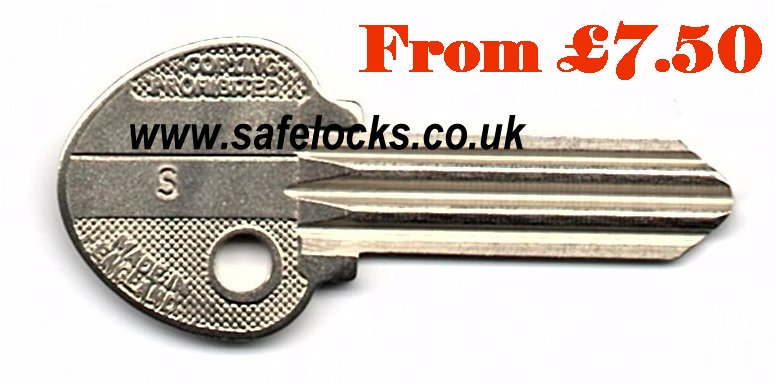 Ingersoll S coded keys £8 each online Ingersoll key cut to code posted 1st class recorded today