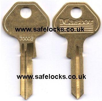 Genuine Master Lock 7000 7000b Key Cutting Padlock Key Cut