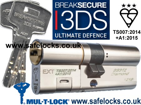 Mul T Lock Breaksecure 3ds Cylinder Ts007 3 Star Ss312