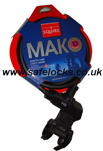 Squire Mako 14 1800 Cycle Lock With Universal Carrying Bracket