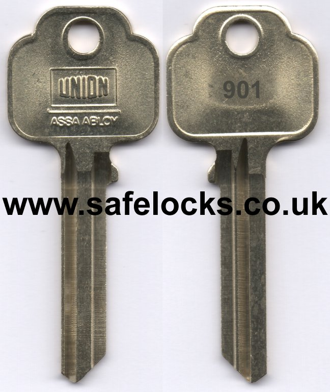 Union Parkes 901 Section Keys Cut To Code Kb901 Genuine