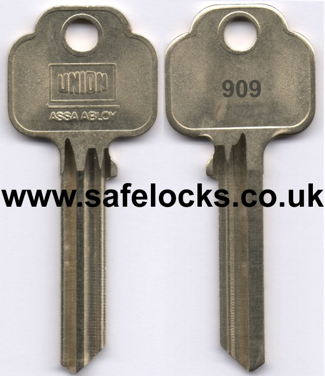 Union Parkes 909 Section Keys Cut To Code Kb909 Genuine