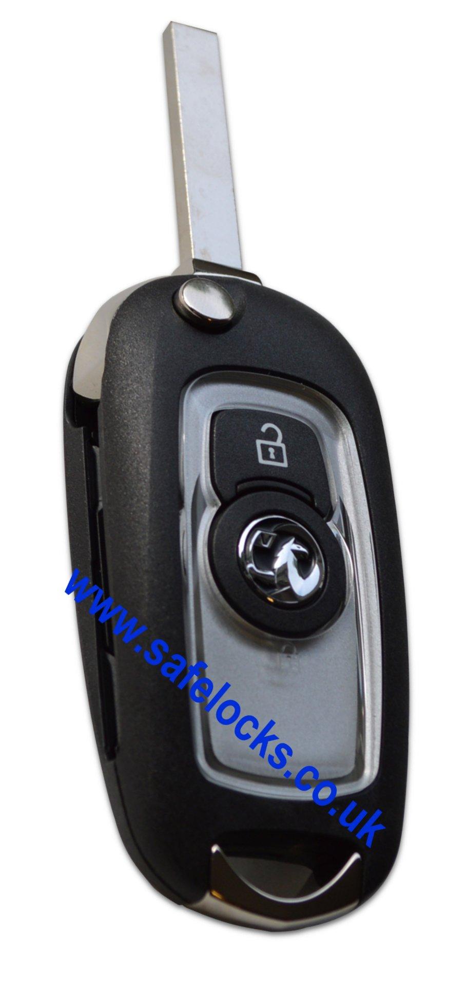Genuine Vauxhall Astra K 2015-2017 2 button Silver remote ...